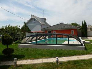 Nízké bazénové zastřešení Relax, Senica